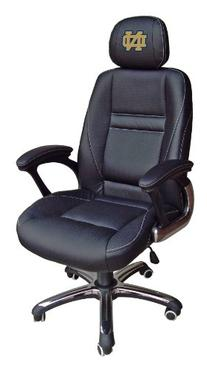 Wild Sports NCAA Leather Head Coach Office Chair
