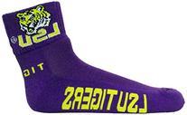 NCAA LSU Tigers 1/4 Length Socks, Purple, One Size