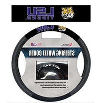 NCAA LSU Tigers Poly-Suede Steering Wheel Cover, One Size,