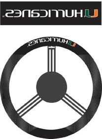 NCAA Miami Hurricanes Poly-Suede Steering Wheel Cover