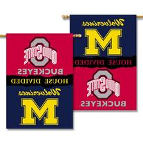 NCAA Michigan - Ohio State 2-Sided 28-by-40 inch House