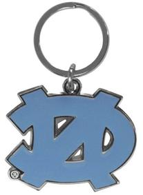 NCAA North Carolina Tar Heels Chrome and Enameled Key Chain