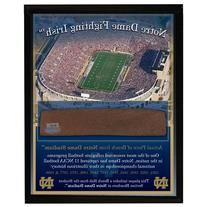 NCAA Notre Dame Game Used Bench Slab 8x10 Plaque