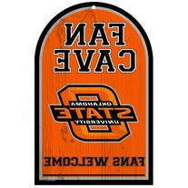 NCAA Oklahoma State Cowboys 11-by-17 Wood Sign Fan Cave