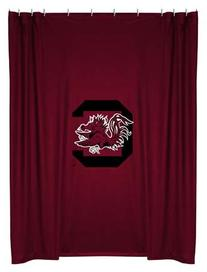 NCAA South Carolina Gamecocks Bathroom Shower Curtain