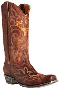 NCAA Texas Longhorns Men's Gameday Boots, Brass, 9.5 D  US