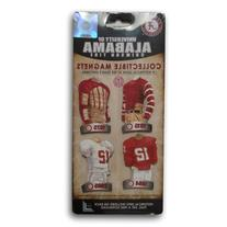 NCAA University of Alabama Uniform Magnet Set