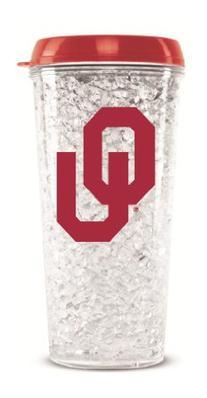 NCAA University of Oklahoma Crystal Tumbler