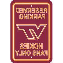 NCAA Virginia Tech Hokies Hi-Res Metal Parking Sign