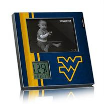 West Virginia Mountaineers Picture Frame & Desk Clock