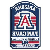 "NCAA University of Arizona Wood Sign, 11"" x 17"