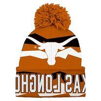 NCAA Youth Boys 8-20 Texas Longhorns Cuffed Knit w/Pom Hat,
