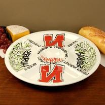 Nebraska Cornhuskers Ceramic Veggie Tray