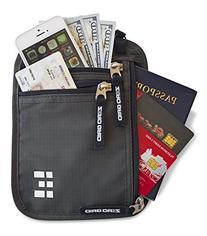 Zero Grid Neck Wallet w/RFID Blocking- Concealed Travel