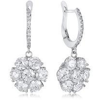 Neiman Marcus Diamonds 18k White Gold Flower Drop Earrings