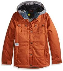 Volcom Big Boys' Neolithic Insulated Jacket, Burnt Sienna,