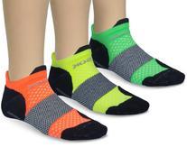 Fitsok Men's F4 Neopop Socks , Black/Tri-Color , Small