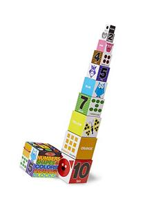 Melissa & Doug Nesting and Stacking Blocks: Numbers, Shapes