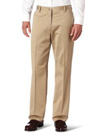 Dockers Men's Never-Iron Essential Straight Fit Flat Front
