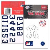New York Yankees MLB Batting Helmet Decal Kit (Includes