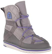 SOREL Kids Girl's Newbie  Light Grey/Purple Lotus Boot 1