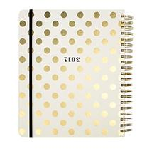 kate spade new york® Dot Patterned Jumbo Spiral Agenda