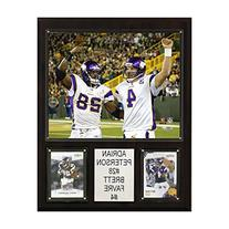 NFL Adrian Peterson-Brett Favre Minnesota Vikings Player Plaque