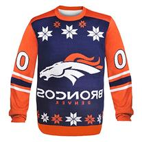 NFL Denver Broncos Almost Right But Ugly Sweater, X-Large,