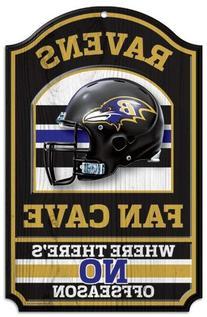 NFL Wood Sign Team: Baltimore Ravens