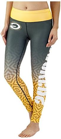 NFL Green Bay Packers Gradient Print Legging, Green, Medium