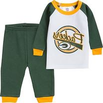 NFL Green Bay Packers Thermal Pajama Set, 12 Months, Green