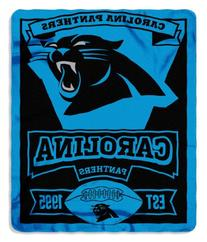 NFL Carolina Panthers Marque Printed Fleece Throw, 50-inch