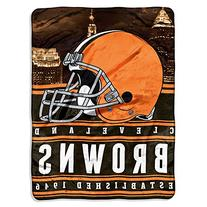 The  Company NFL Cleveland Browns Stacked Silk Touch Blanket