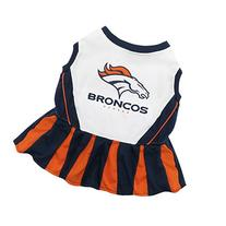 Pets First NFL Denver Broncos Dog Cheerleader Dress, Small