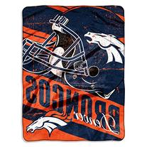 "NFL Denver Broncos ""Deep Slant"" Micro-Raschel Throw, Orange"