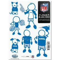 NFL Detroit Lions Small Family Decal Set