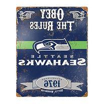 Party Animal NFL Embossed Metal Vintage Seattle Seahawks