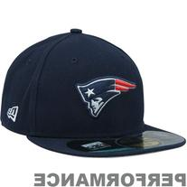 NFL New England Patriots On Field 5950 Game Cap, Navy, 6 5/8