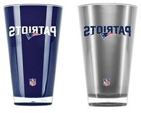 NFL New England Patriots 20-Ounce Insulated Tumbler - 2 Pack