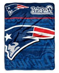 NFL New England Patriots Micro Raschel Throw Blanket, 46 x
