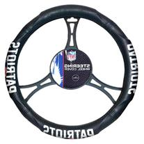 NFL New England Patriots Steering Wheel Cover, Black, One