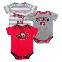 NFL Infant Field Goal 3Pc Bodysuit Set - San Francisco 49ers