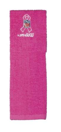 Wilson Pink QB Towel with NFL Breast Cancer Awareness Logo