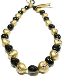 NFL New Orleans Saints Go Nuts Kukui Nut Lei Necklace