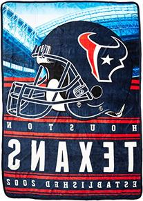 The Northwest Company NFL Houston Texans Stacked Silk Touch