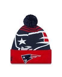 NFL New England Patriots New Era Logo Whiz Pom Beanie, One