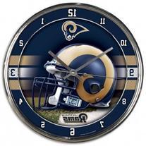 NFL Los Angeles Rams Chrome Clock