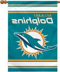NFL Miami Dolphins 2-Sided 28-by-40-Inch House Banner