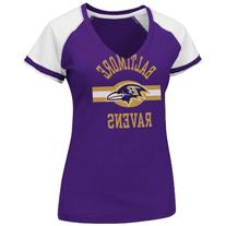 NFL Baltimore Ravens V-Neck Tee, Large