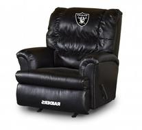 Imperial Oakland Raiders Leather Big Daddy Recliner